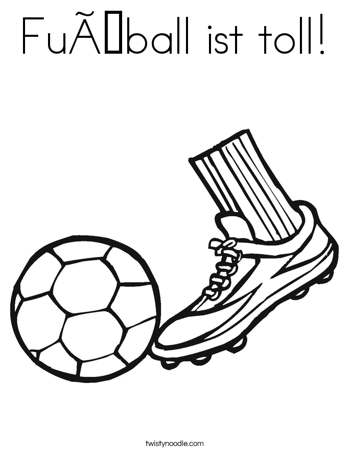 Fußball ist toll! Coloring Page