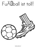 Fußball ist toll!Coloring Page