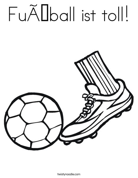 Cleat and Soccer Ball Coloring Page