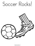 Soccer Rocks! Coloring Page