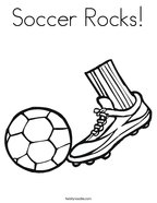 Soccer Rocks Coloring Page