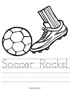 Soccer Rocks Handwriting Sheet