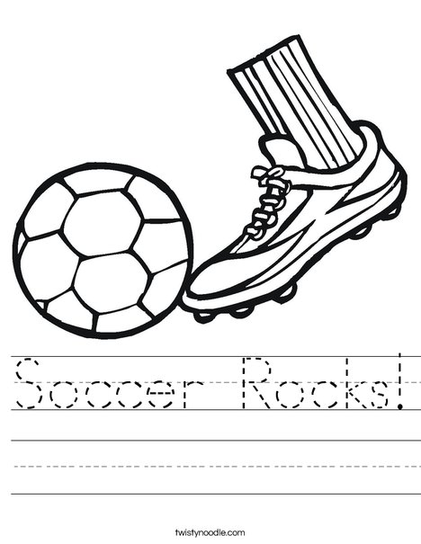 Cleat and Soccer Ball Worksheet