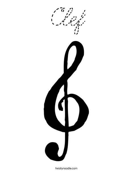 Clef Coloring Page