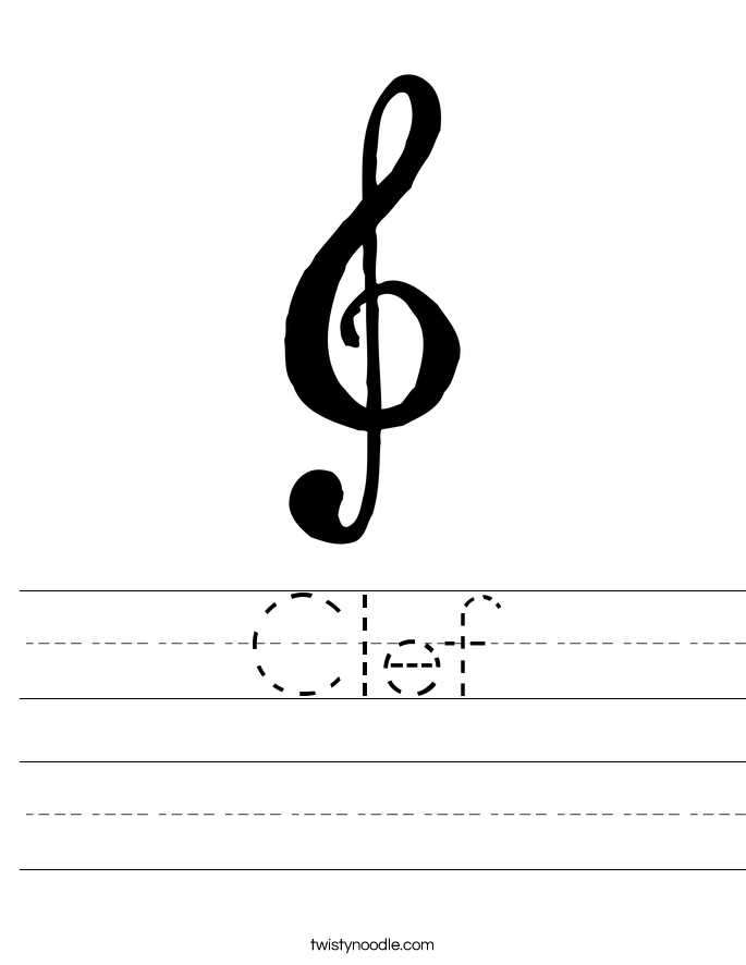 Clef Worksheet