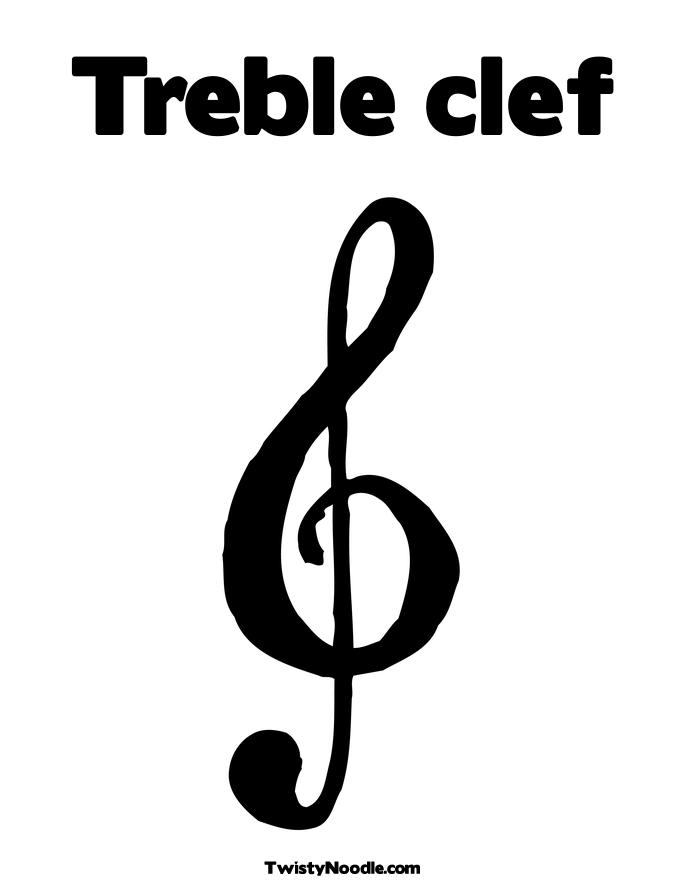Free Coloring Pages Of Treble Clef Sign