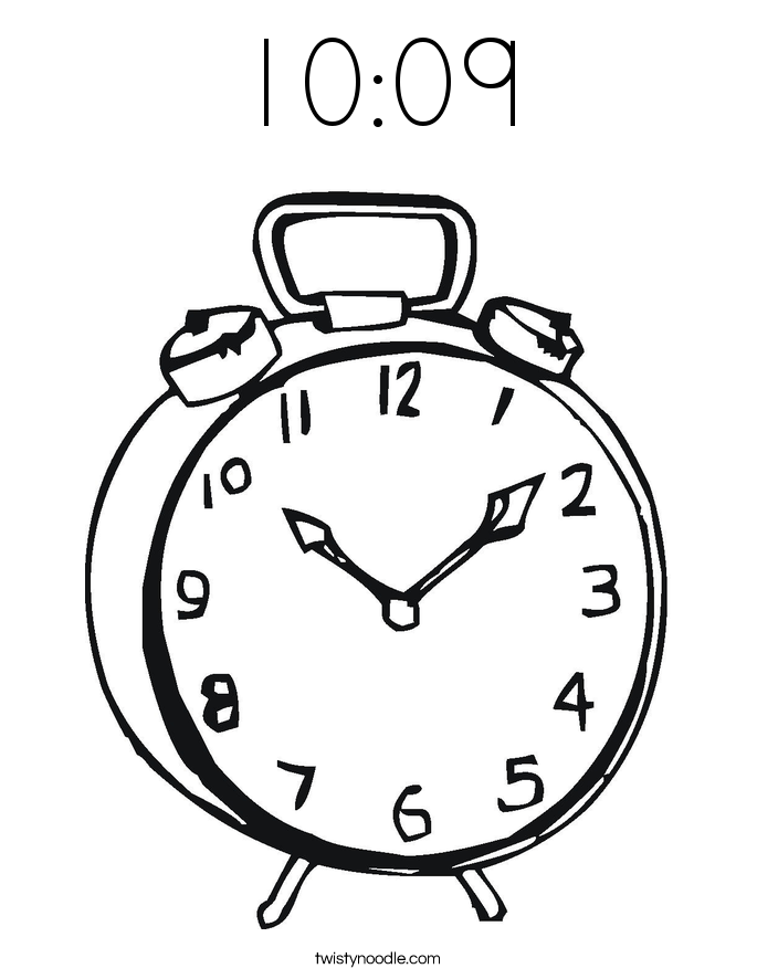 10:09 Coloring Page