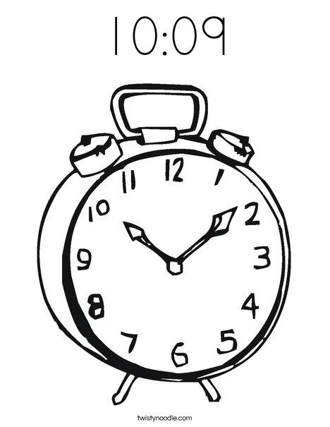 Alarm Clock Coloring Page