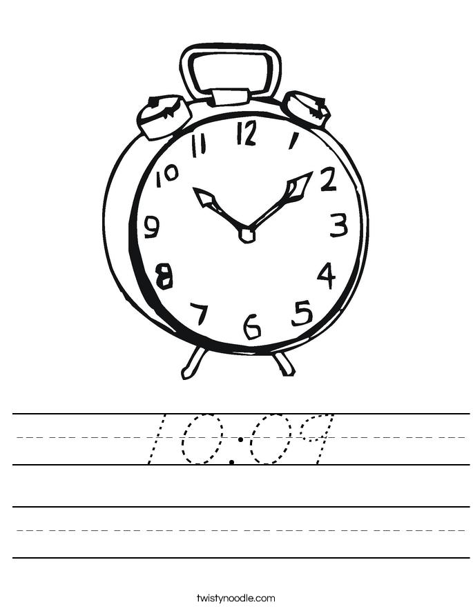 10:09 Worksheet