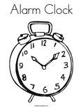 Alarm ClockColoring Page