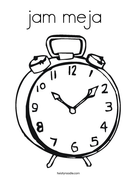 Alarm Clock Coloring Page