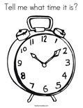 Tell me what time it is?Coloring Page