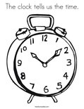 The clock tells us the time.Coloring Page
