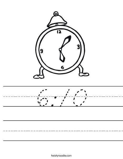 Clock Worksheet