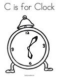 C is for Clock Coloring Page