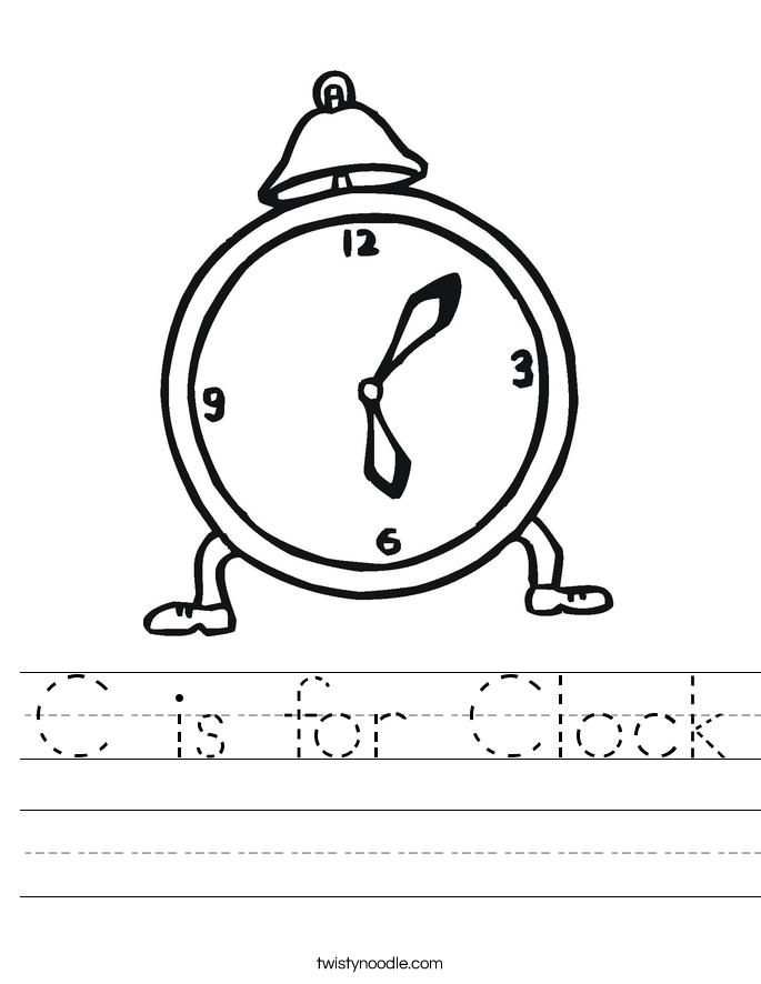 C is for Clock Worksheet