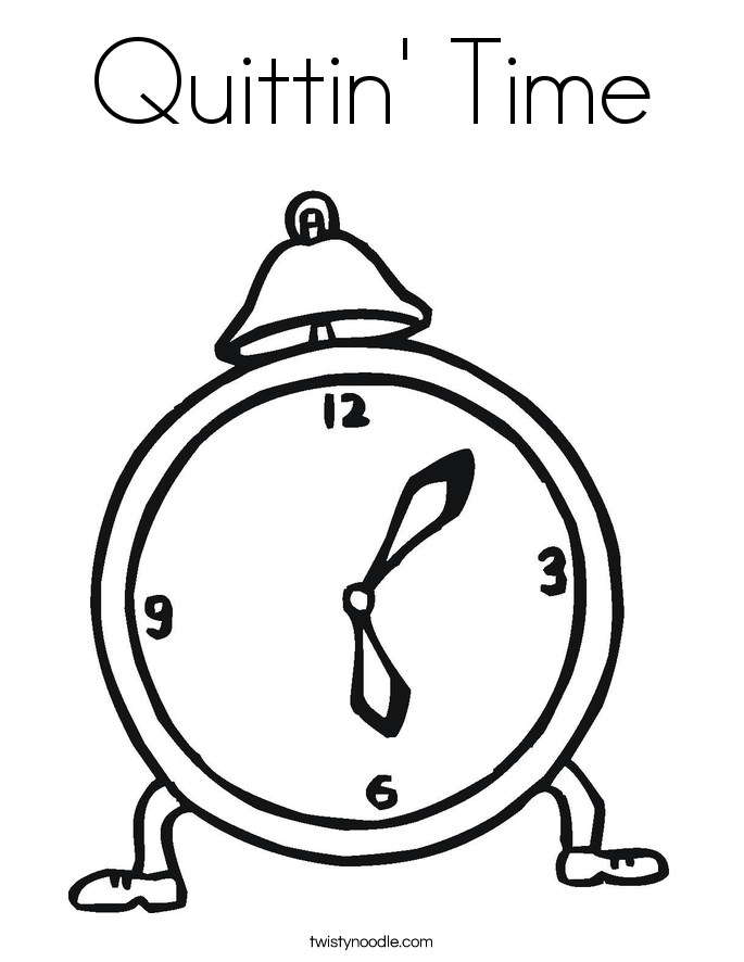 Quittin' Time Coloring Page