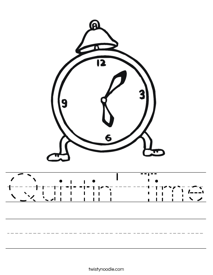Quittin' Time Worksheet