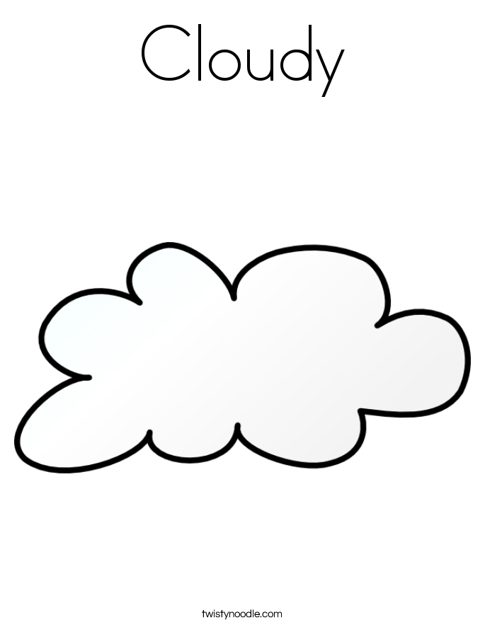 Cloudy Coloring Pages