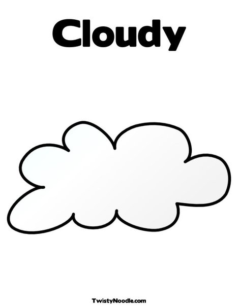 The gallery for cloudy weather coloring pages for Coloring pages clouds