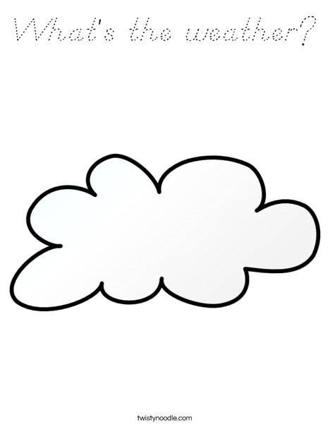 It is cloudy Coloring Page