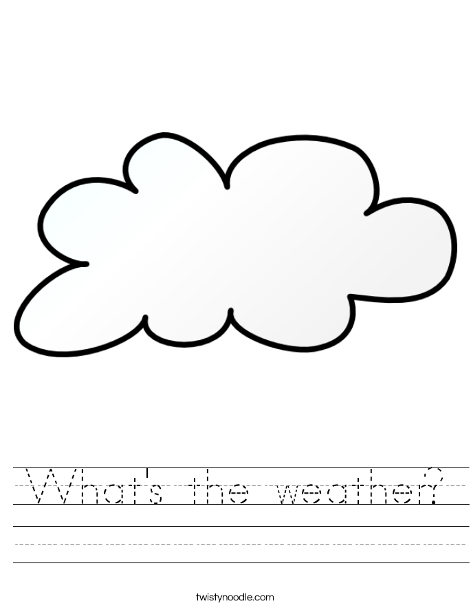 What's the weather? Worksheet