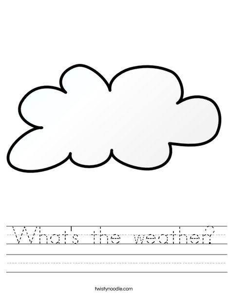 It is cloudy Worksheet