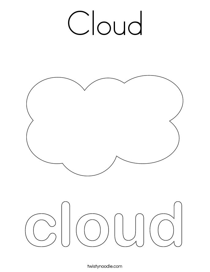 Cloud Coloring Sheet