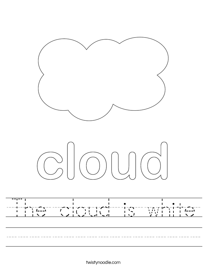 The cloud is white Worksheet