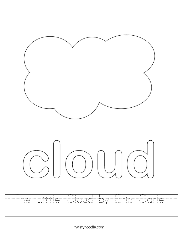 The Little Cloud by Eric Carle Worksheet