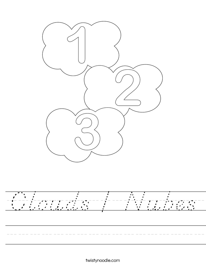 Clouds / Nubes Worksheet