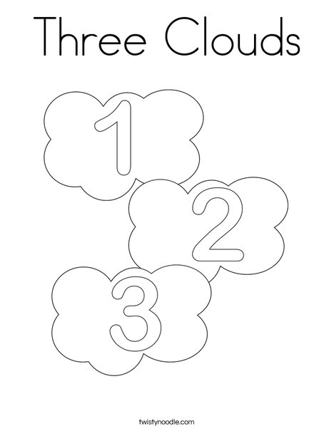 Coloring Book Clouds - Worksheet & Coloring Pages