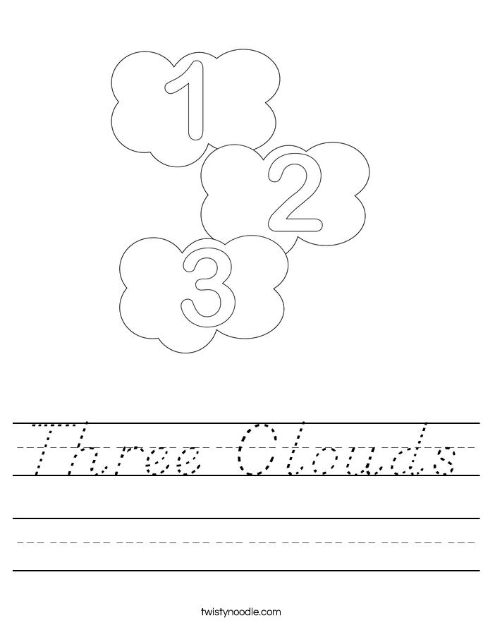 Three Clouds Worksheet