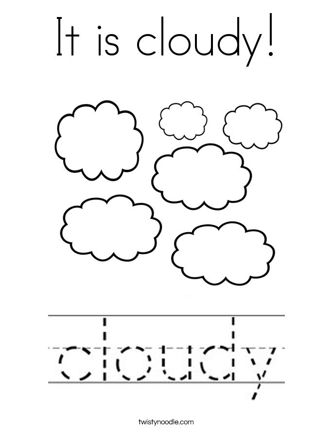 It is cloudy! Coloring Page
