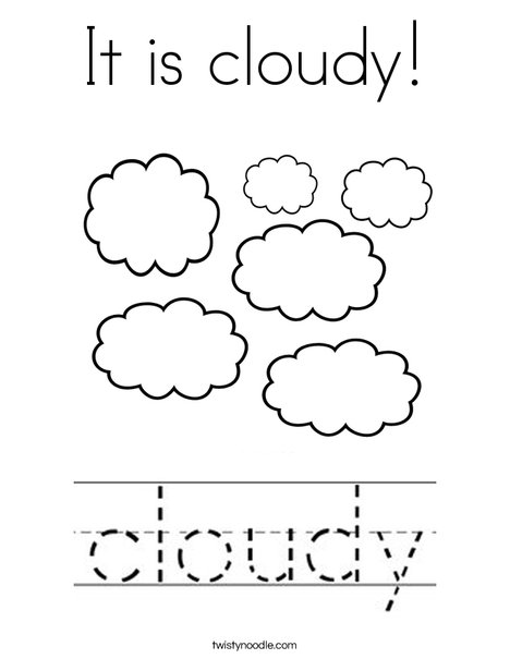 It is cloudy Coloring Page - Twisty Noodle