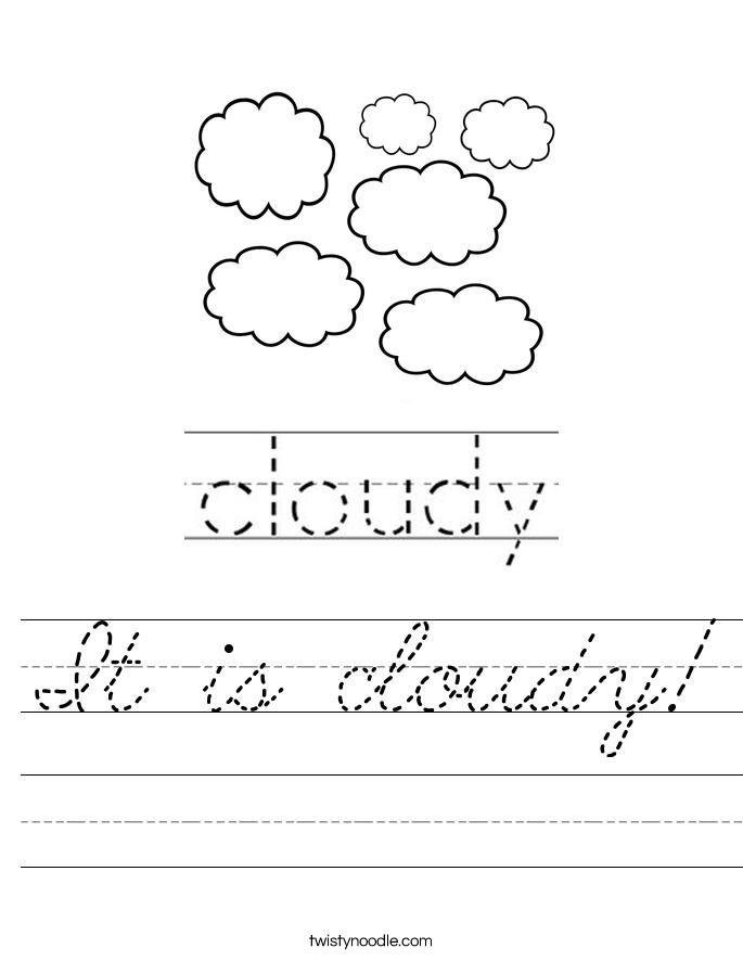 It is cloudy! Worksheet