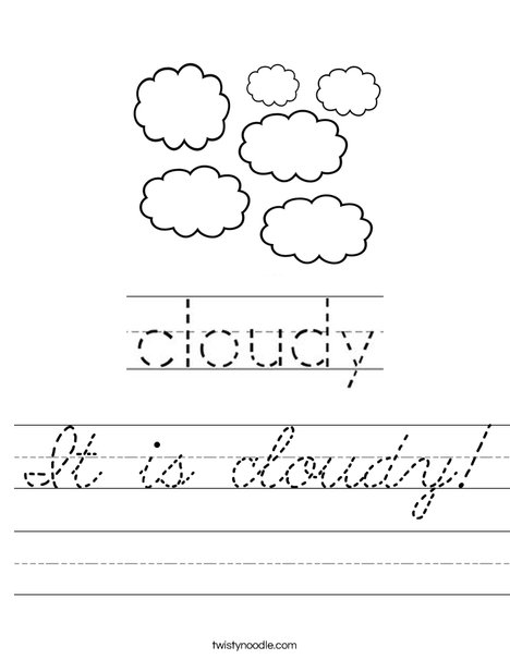 Cloudy Worksheet