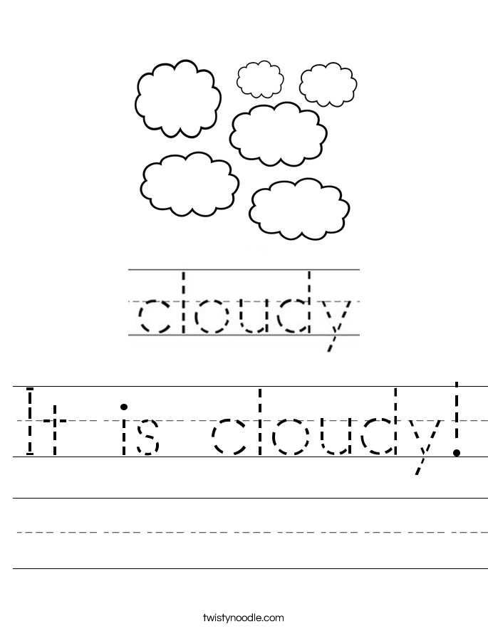 It is cloudy! Worksheet