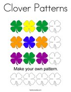 Clover Patterns Coloring Page