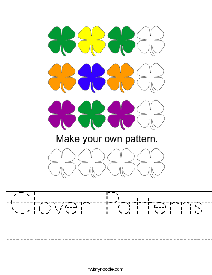 Clover Patterns Worksheet