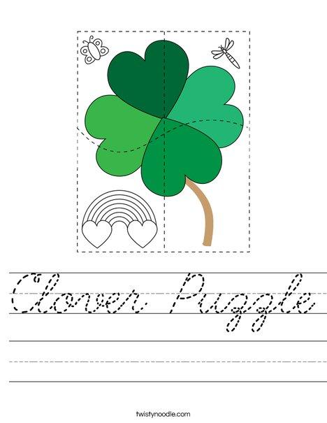 Clover Puzzle Worksheet