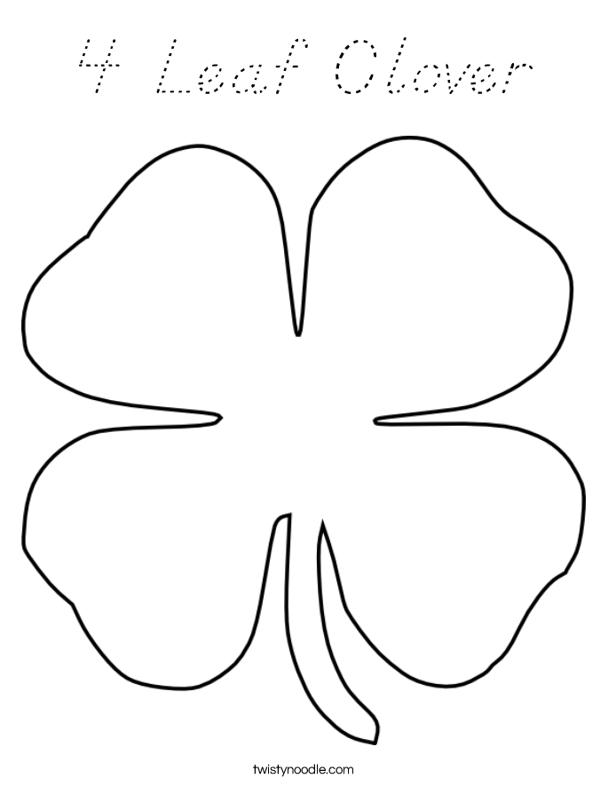4 h clover coloring page related keywords 4 h clover for Four leaf clover coloring page