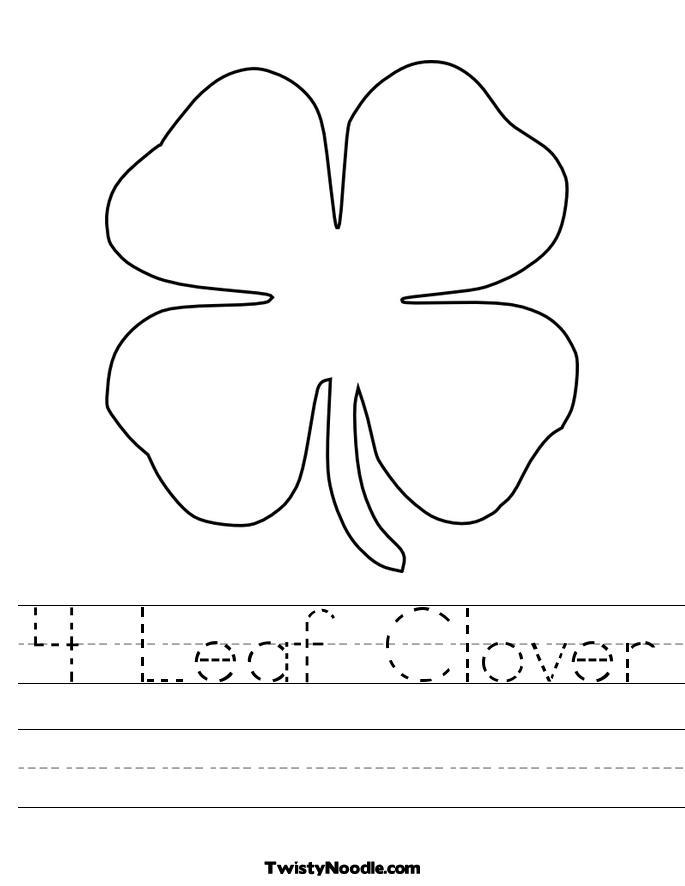 4 Leaf Clover Clip Art Black And White