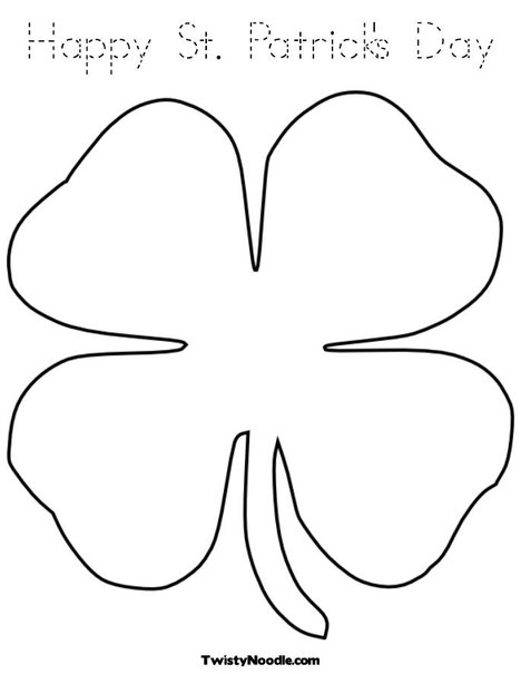 Small Shamrock Coloring Pages Printable Coloring Pages
