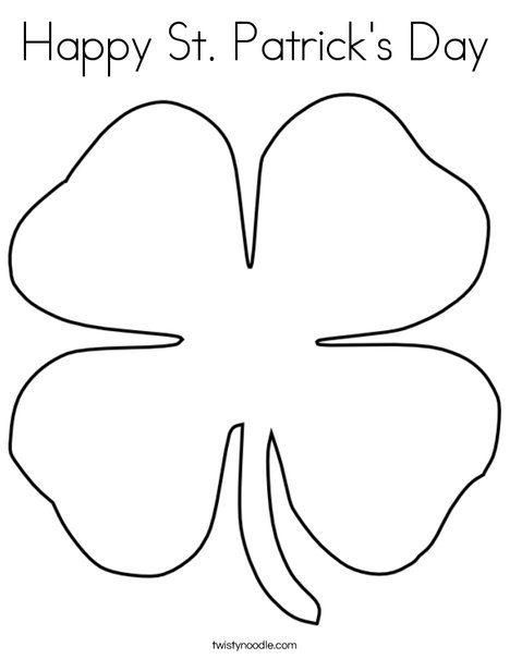 Clover Coloring Page