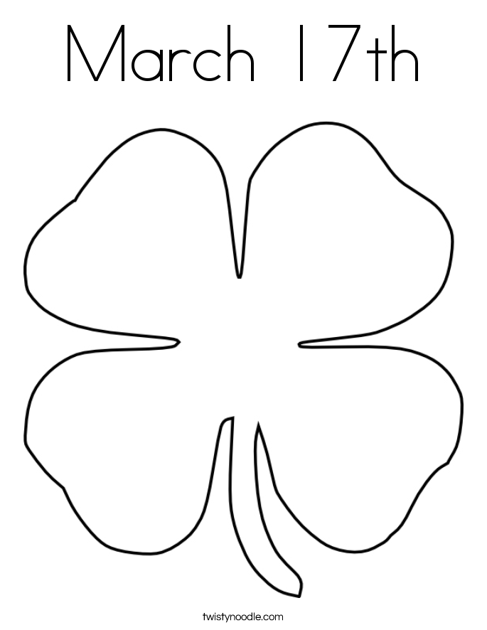 March 17th Coloring Page