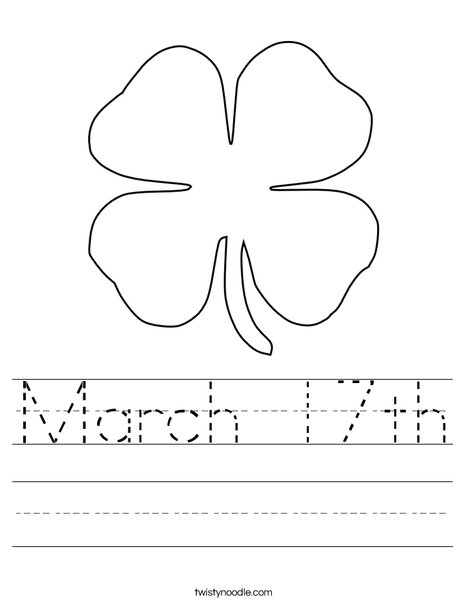 Clover Worksheet