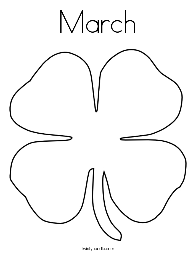 March Coloring Page Twisty Noodle March Coloring Page