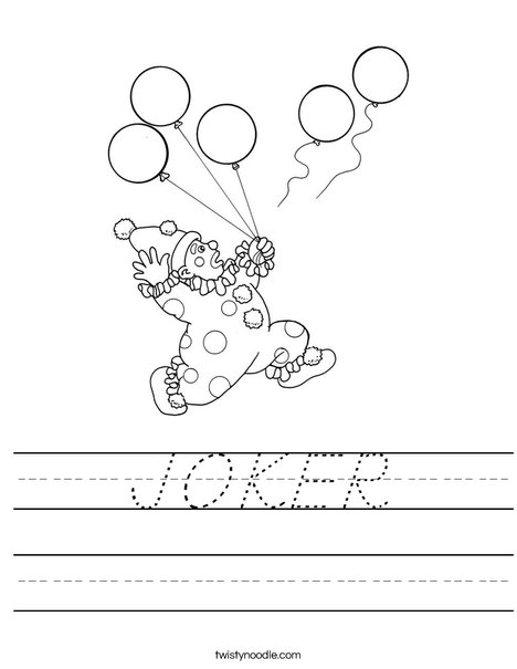 Clown Worksheet
