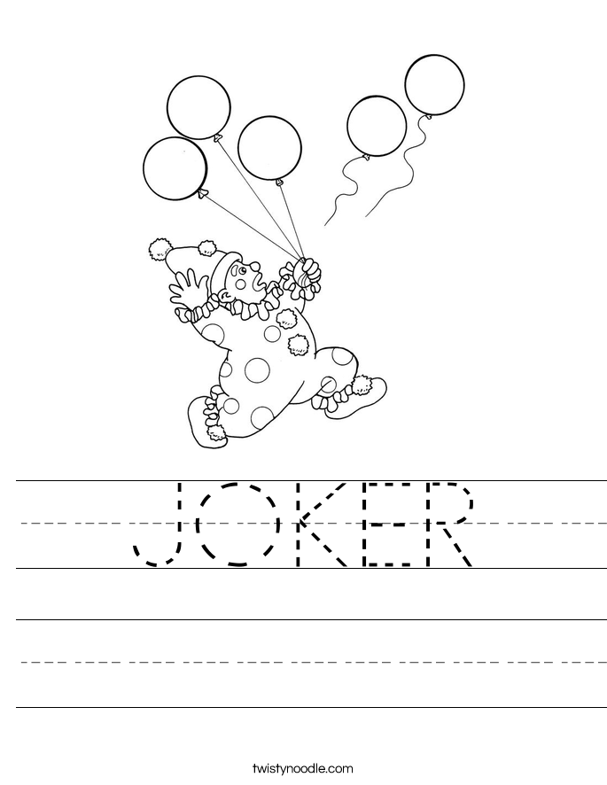 JOKER Worksheet